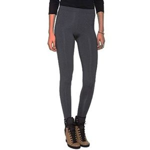 Charcoal Stretch Knit Long Jersey Leggings XS